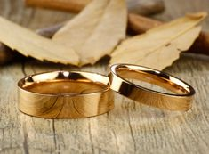 Etsy :: Your place to buy and sell all things handmade titanium wedding ring sets titanium wedding band sets his hers handmade wedding bands Engagement Rings Couple, Couple Rings, Titanium Rings, Titanium Jewelry, Handmade Wedding Rings, Engraved Rings, Wedding Bands, Cake Wedding, Rose Gold