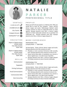 Your resume is one of your best marketing tools. The goal of your resume is to tell your individual story in a compelling way that drives prospective employers to want to meet you. Interior Design Resume Template, Graphic Design Resume, Letterhead Design, Modern Resume Template, Interior Design Cv, Graphic Designer Cv, Creative Cv Template, Template Cv, Creative Cv Design