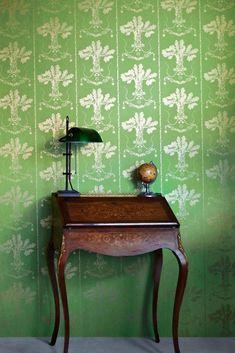 Lucky Charms - Georgian Green Wallpaper – Bradley USA