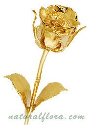 Online Gold Covered and Gold Dipped Roses