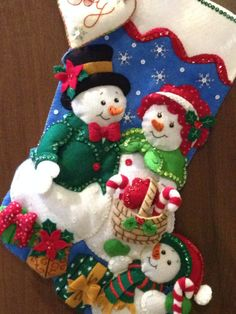 Our Family Bucilla Felt Stocking