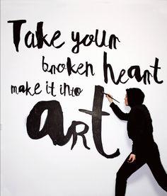 """Take your broken heart, make it into art"". Carrie Fisher Artwork by Lena Petersen"