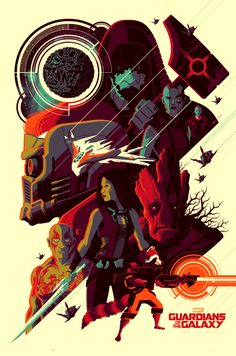 """Officially Licensed, Screen printed poster art - Tom Whalen - """"Guardians of the Galaxy"""" - Limited Edition - Marvel Comics Movie Poster - Print Run: 250 Tom Whalen, Marvel Movie Posters, Movie Poster Art, Marvel Movies, Fan Poster, Disney Posters, Film Posters, Marvel Art, Marvel Dc Comics"""