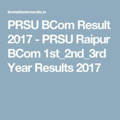 PRSU BCom Result 2017 - PRSU Raipur BCom 1st_2nd_3rd Year Results 2017