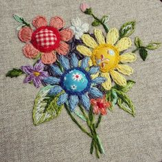 Finished #embroidery #flowers #hoopembroidery #embroideryart #wool #bouquet #flower #ooak #sewing #fabric