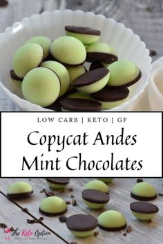 Keto Copycat Andes Mint Chocolates Low Carb Mint Chocolate Enjoy These Truly Magnificent Mint Chocolate Keto Treats Easy Keto Dessert Visit Andes Mint Chocolate, Chocolate Low Carb, Menta Chocolate, Chocolate Chips, Chocolate Recipes, Chocolate Fudge, Keto Foods, Ketogenic Recipes, Low Carb Recipes
