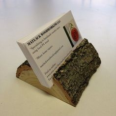 Wooden Business Card Holder by Matlack Woodworking