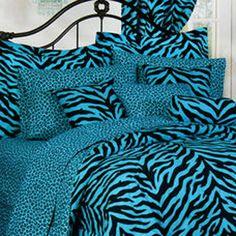 Dark blue and purple bedding sets royal bedroom for Blue zebra print bedroom ideas