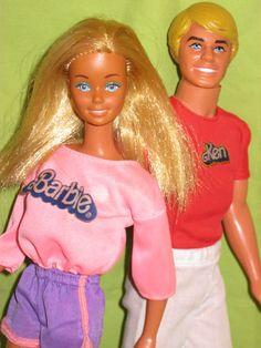 Vintage Sun Lovin Malibu Barbie and Ken 1979