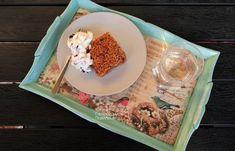 Κέικ με νιφάδες βρώμης και επικάλυψη καρυδιών - cretangastronomy.gr