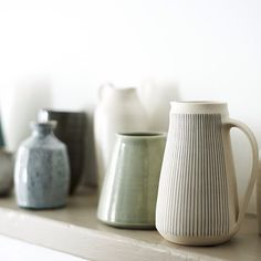 12.11.2014 A collection of vases & jugs at Maud and Mabel #clay #ceramics #pottery #tableware #jug #vase #bottle #shop #art #design #interiordesign #styling #handmade #handmade #gallery #london