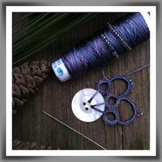 motif by pine woods tatter Needle Tatting, Tatting Lace, Thread Crochet, Knit Crochet, Tatting Jewelry, Sewing Baskets, Tatting Patterns, Lace Making, Sewing Hacks
