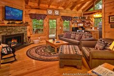 Bear Crossing - This cozy one-bedroom cabin is private and is ideal for romantic getaways or honeymooners and because it sleeps up to four people, it is great for small families on vacation as well.