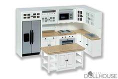 White Luxury Marble Miniature Kitchen Set $149.99 #minikitchen #miniaturefurniture Start shopping! missdollhouse.com