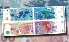 Los nuevos billetes de Eva Perón y Malvinas, reconocidos en Latinomérica | Billetes