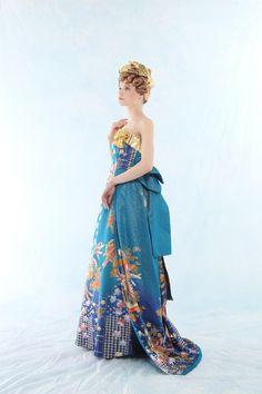 'wa dress' made of kimono