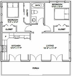 Best Barndominium Floor Plans For Planning Your Barndominium House Guest House Plans, Small House Floor Plans, Cottage Floor Plans, Cabin Floor Plans, Cottage House Plans, Craftsman Cottage, Garage Guest House, Barn House Plans, The Plan