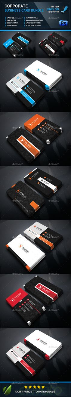 Creative Corporate Business Card Bundle - Business Cards Print Templates Download here : http://graphicriver.net/item/creative-corporate-business-card-bundle/12698380?s_rank=1739&ref=Al-fatih