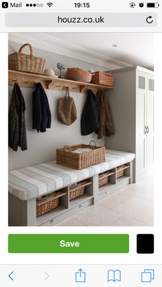 Hooks & cupboard