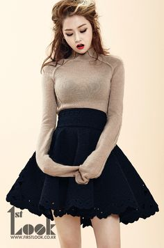 Gayoon posing in a photo shoot for 1st Look Magazine August Issue 2013.