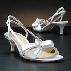 White, comfortable wedding shoes! I can always fancy them up with some fake crystals or something!