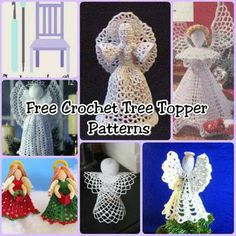 The best decoration on any Christmas tree is the traditional Christmas tree topper. Check out these free crochet tree topper patterns. Christmas Tree Star Topper, Crochet Christmas Decorations, Crochet Christmas Ornaments, Christmas Crochet Patterns, Holiday Crochet, Crochet Snowflakes, Christmas Angels, Christmas Crafts, Christmas Christmas