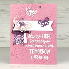 Label Shapes, Stampin Up Paper Pumpkin, Send A Card, Painted Boxes, Graduation Cards, Butterfly Cards, Ink Pads, Stamping Up, Craft Kits