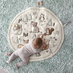 Sewing For Babies Woodland Animals Baby Activity Mat - Shop Woodland Animals Baby Activity Mat. Our Woodland Animals Baby Activity Mat lets little explorers visit a friendly forest without ever leaving the nursery. Baby Activity, Activity Mat, Sea Activities, Infant Activities, Baby Play, Baby Toys, Kids Toys, Baby Sense, Baby Arrival