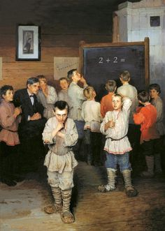 Task. (Nikolay Bogdanov-Belsky Mental Arithmetic, in the Rachinsky School, 1895)