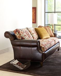 Upholstered leather couch... Need different Print!!!