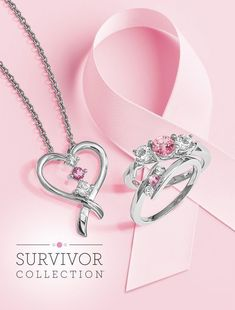 October is Breast Cancer Awareness month. Commemorate a cancer survivor's journey with a special gift from The Survivor Collection. #QualityGold #PinkRibbon #BreastCancerAwareness #JewelryforaCause #AwarenessRibbons #SurvivorCollection #SurvivorJewelry #BeatCancer