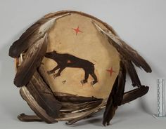 Shield with bear, perhaps Sioux. NMNH ac