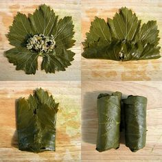 How to fold your stuffed grape leaves & not have things fall out! :)