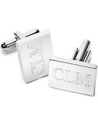 getting these for my baby! Rectangular Cuff Links Engraved Monogrammed by netexchange on Etsy, $18.95