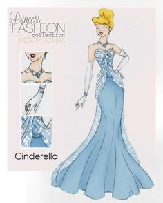 Get a Glimpse of These High Fashion Disney Princesses - Cinderella Source by kayteekrabbe fashion dress Disney Pixar, Disney E Dreamworks, Disney Art, Walt Disney, Disney Characters, Cinderella Disney, Cinderella Princess, Cinderella Drawing, Cinderella Outfit