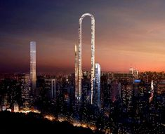 Manhattan& skyline is about to get thrown for a loop - literally. Plans have officially been unveiled to construct the world& first U-shaped skyscraper in New York City, and it& going to push the limits of architecture above the curve. Architecture Design Concept, Cabinet D Architecture, Amazing Architecture, Modern Architecture, Dubai, World Trade Center, Manhattan Skyline, New York Skyline, Skyscraper New York
