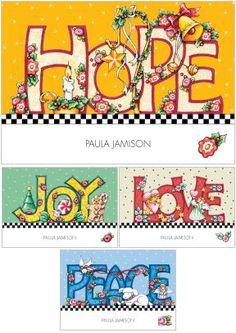 Hope, Joy, Love, Peace - Mary Engelbreit | Мэри Энгельбрайт | Pinterest | Mary Engelbreit, Hope and Peace