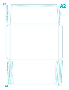A Envelope Template Print Landscape As Large As Possible  Post