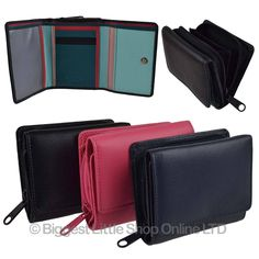 Ladies Girls Small Compact Leather Zip Around Purse/Wallet By Golunski Handy