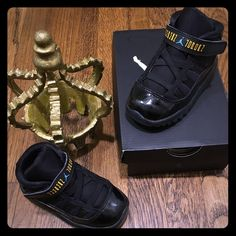 Reserved Jordan toddler retro 11 blue gamma Excellent condition gently worn tiny scuff on left shoe barely noticeable box included 100% authentic. Toddler Jordan retro 11 blue gammas  Size: 6.5c !!!Collectors sold out!! !!!Price is firm!!! Jordan Other