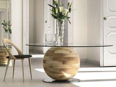 Mesa de jantar redonda GHEO-OFF Coleção Logos by Porada | design Emanuele Missaglia