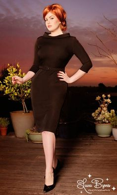 Joanie Dress in Black from Pinup Couture