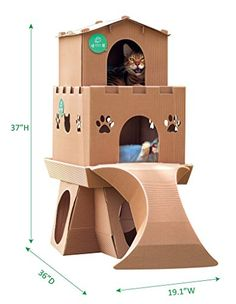 Taiwan Present Meow House Cardboard Corrugated Paper Cat ... https://www.amazon.com/dp/B01MQRGHBF/ref=cm_sw_r_pi_dp_x_1y.HzbBWX63MZ