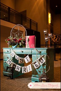 Old vintage drawers for guest sign in table #wedding