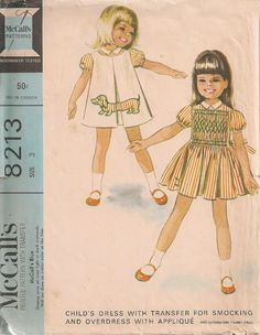 Cute vintage sewing pattern with a Dachshund motif