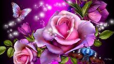 Wallpapers Purple, Purple Butterfly Wallpaper, Butterfly Background, Live Wallpapers, Flower Wallpaper, Rose Background, Desktop Wallpapers, Heart Wallpaper, Trendy Wallpaper