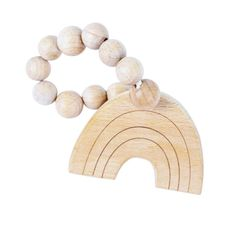 Sourced from Bebe au Lait, this teething toy is designed so that it's easy for little hands to grab. Created to calm and soothe babies sore gums and made of 100% natural beechwood, this teether is a safe and stylish choice for your little one. Also a perfect gift for a rainbow baby. Comes packaged in a lovely gift box. Wooden Rainbow, Baby Bundles, Baby Must Haves, Teething Toys, Bath Toys, Rainbow Baby, Fine Motor Skills, How To Make Beads, Wooden Beads