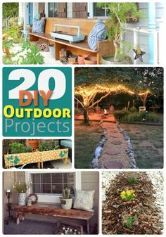 Great Ideas — 20 Outdoor DIY Projects! Description from tatertotsandjello.com. I searched for this on bing.com/images