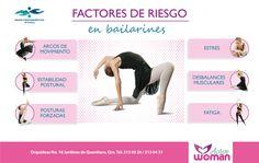 """Busca atención profesional a tiempo, antes de que el #dolor afecte tus actividades preferidas como el #ballet o la #danza. #ActiveWoman """"Salud integral de la mujer"""". #Infografía"""