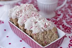 Oatmeal Peppermint Dipped Cookies. Use GF oats.